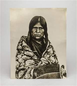 Antique 1900 American Hopi Matron Photo
