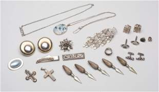 Large Group Designed Silver Jewelries