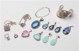 Set Designed Sterling/Gem Stone Jewelries