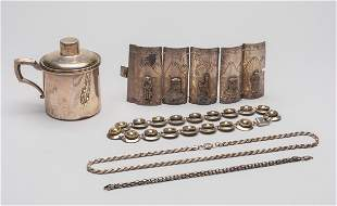 Set Sterling Silver Jewelries/Cup