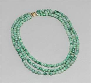 Designed Chinese Jade Jadeite Necklace