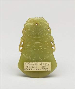 Important Chinese Yellow Jade Carving