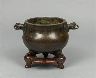 Chinese Old Bronze Incense Burner