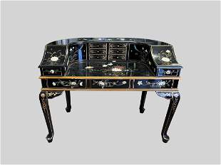 Collectible Chinese Export Lacquer Desk