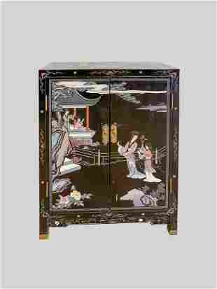 Chinese Export Lacquer Night Table