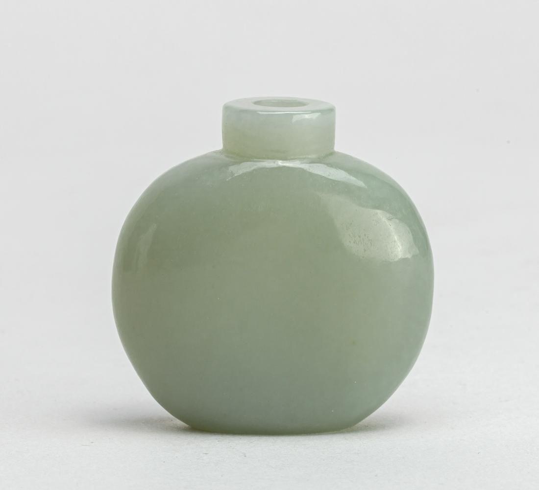 Chinese Pale Celadon Jade Snuff Bottle