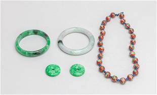 Estate Chinese Jade, Stone, Beads
