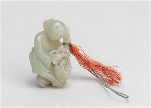 Chinese White Jade Toggle