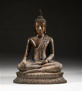 Indian Old Bronze Buddha