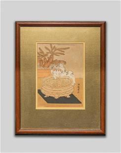Japanese Woodblock Prints by Isoda Koryusai