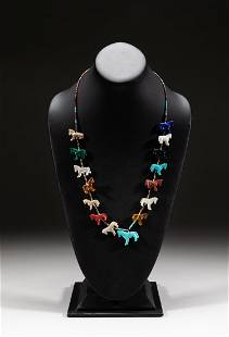 Collectible Zuni Turquoise & Gem Stone Necklace