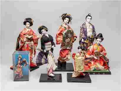 Estate Japanese Vintage Geisha Dolls