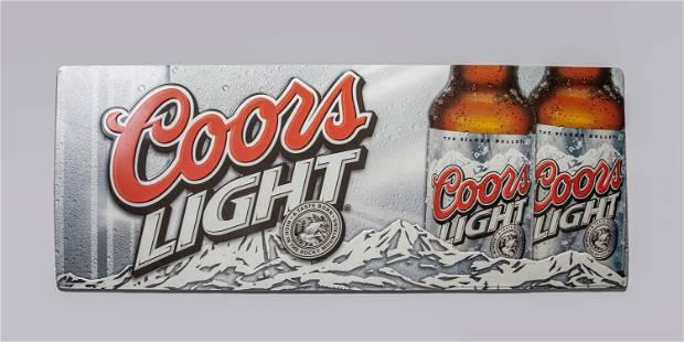 Vintage Large Size Coors Light Metal Sign