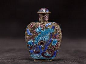 Chinese Antique Cloisonné Snuff Bottle