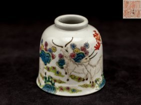 Chinese Antique Famille Rose Jar