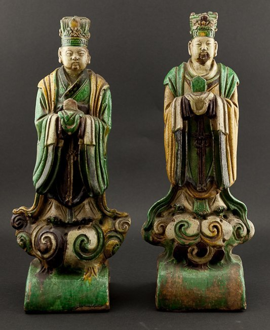 Group of Early Ming Dynasty Standing Glazed Standing