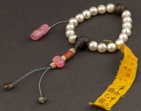 19th Chinese Antique Pearl Prayer Beads