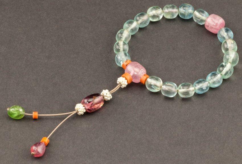 18th Chinese Antique Aquamarine Prayer Beads