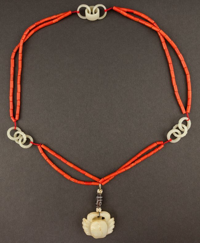Chinese Antique Coral Necklace