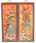 Pairs of Chinese Antique Lacquer Panels