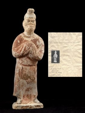 Chinese Antique Tang Dynasty Pottery Model Of Foreign