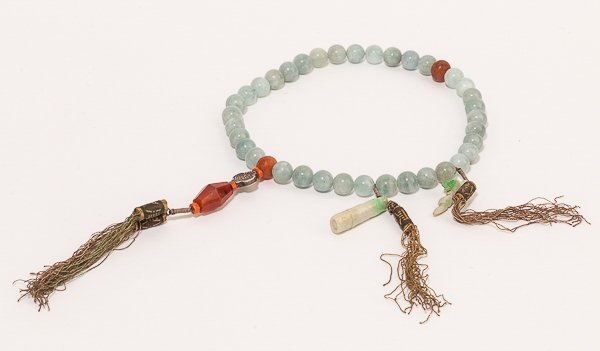 19th Chinese Antique Aquamarine Prayer beads