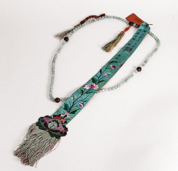 19th Chinese Antique Aquamarine Prayer beads