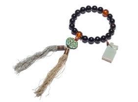 Chinese Antique Horn Prayer Beads, 19th Century