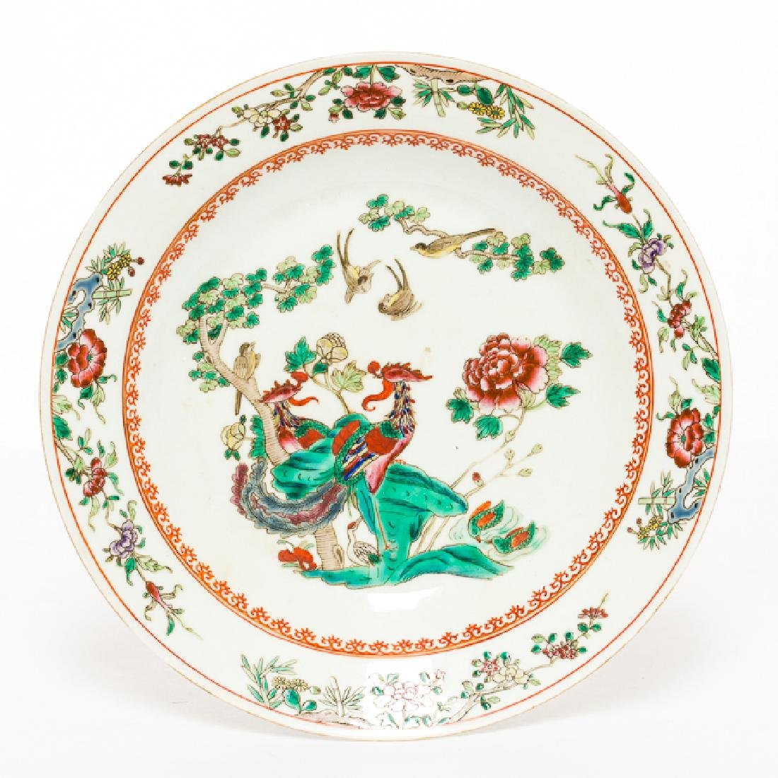 Chinese Antique Famille Rose Porcelain Dish, Qing - 2