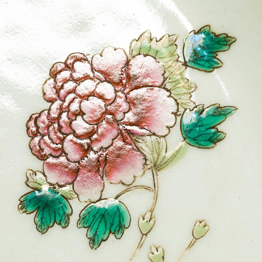 Chinese Antique Famille Rose Porcelain Dish, Qing - 6