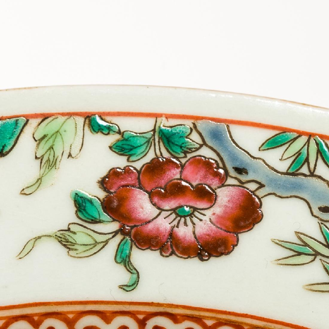 Chinese Antique Famille Rose Porcelain Dish, Qing - 7
