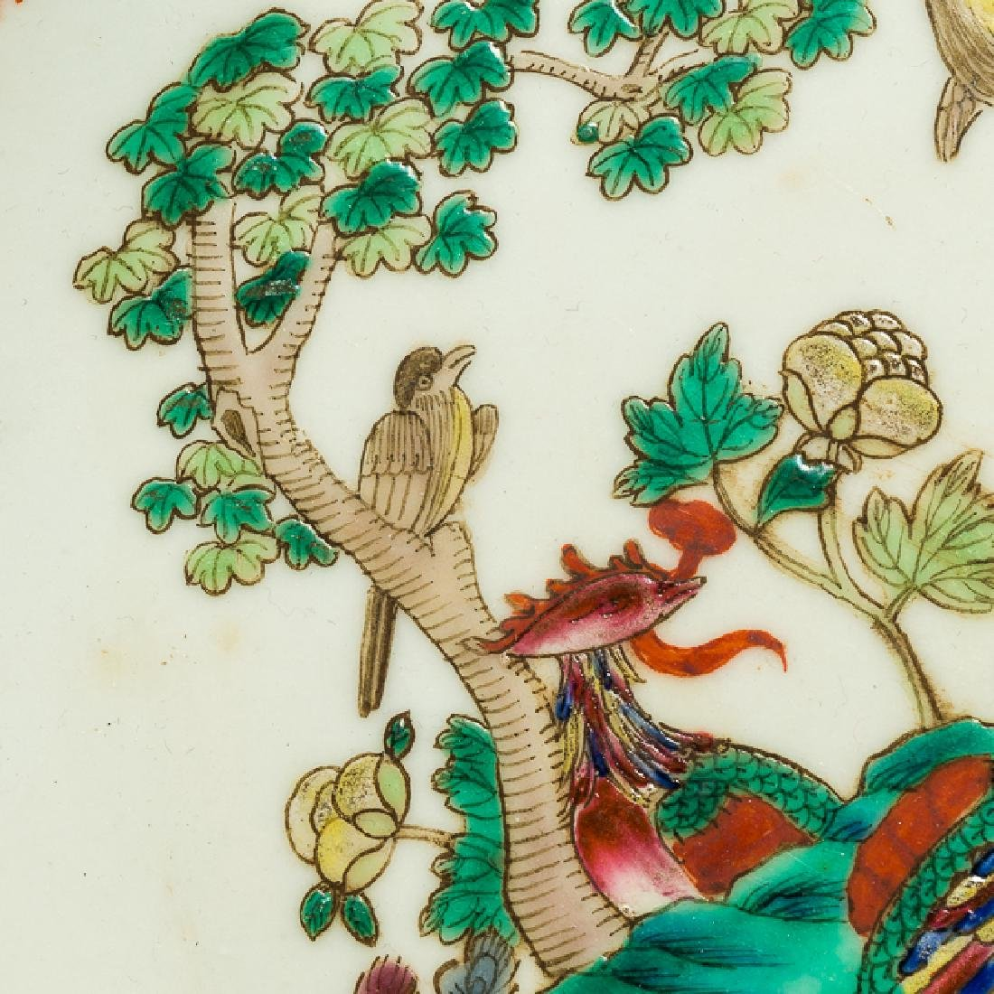 Chinese Antique Famille Rose Porcelain Dish, Qing - 9