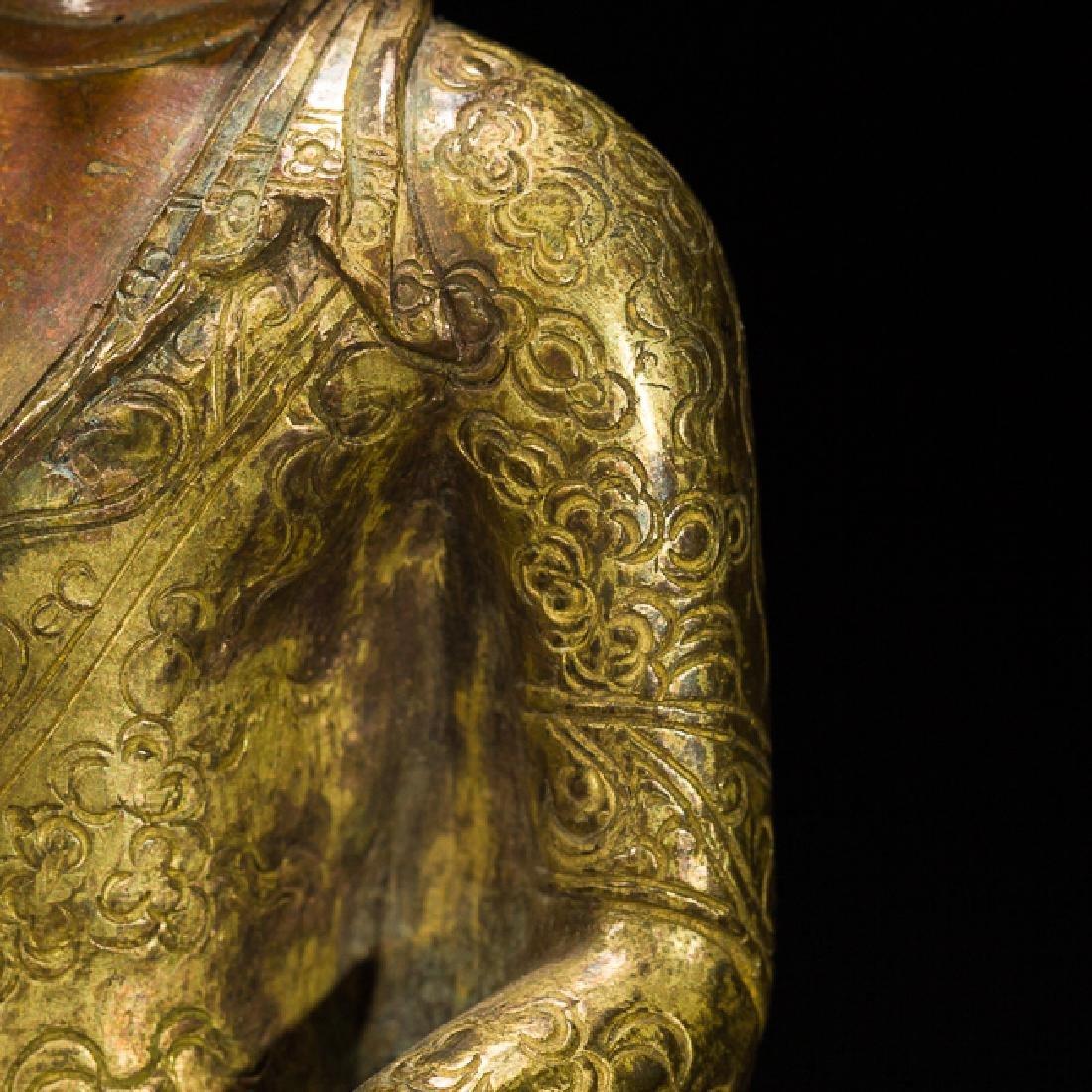 Antique Gilt Bronze Figure of Shakyamuni Buddha, 18th - 7