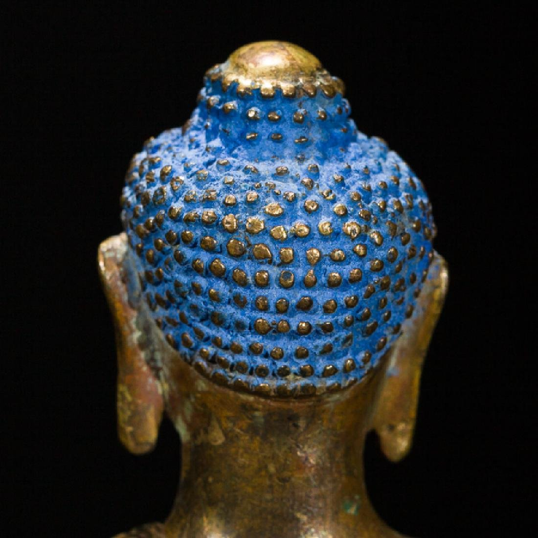 Antique Gilt Bronze Figure of Shakyamuni Buddha, 18th - 8