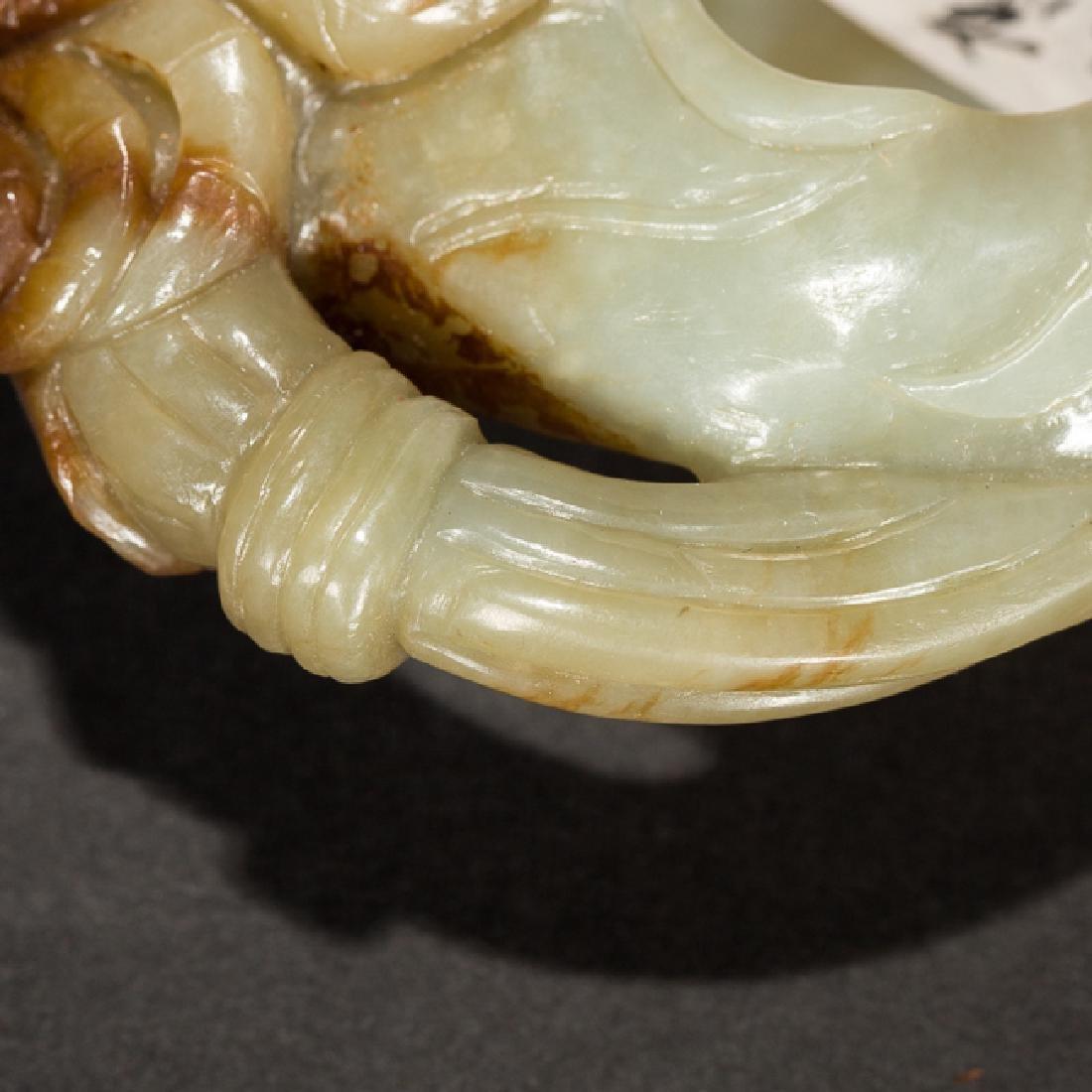 Chinese Antique Celadon Jade Brush Washer, 19th Century - 10