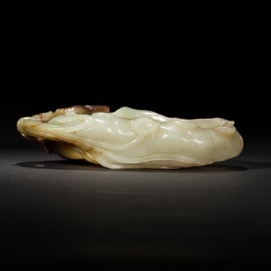 Chinese Antique Celadon Jade Brush Washer, 19th Century - 3
