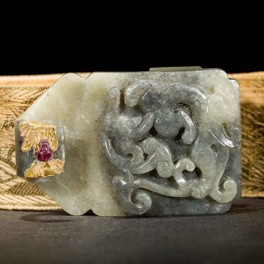 Chinese Antique Jade Garment Hook,19TH - 6