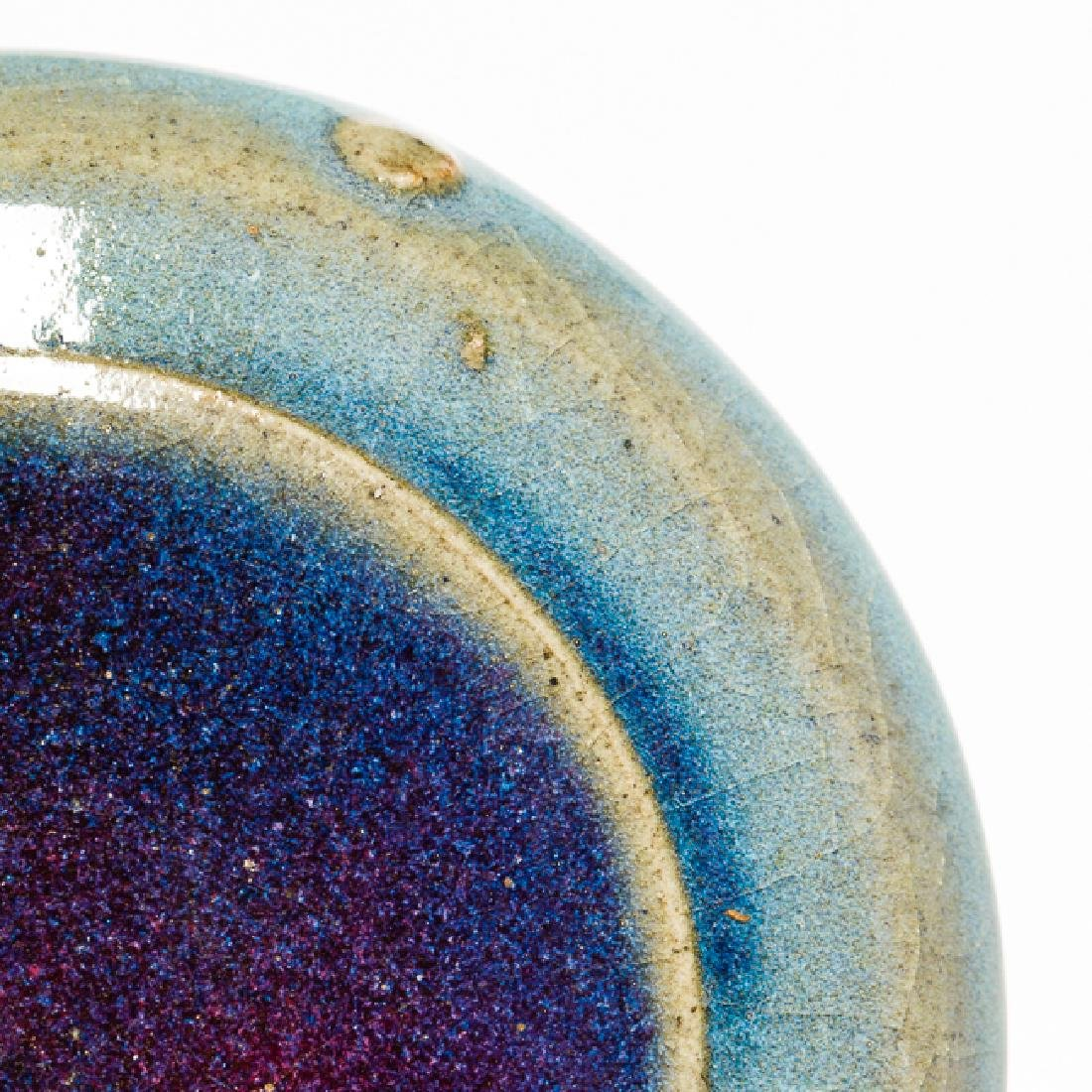 Chinese Antique Flambe-Glaze Porcelain Ink Box Jin Dy - 7