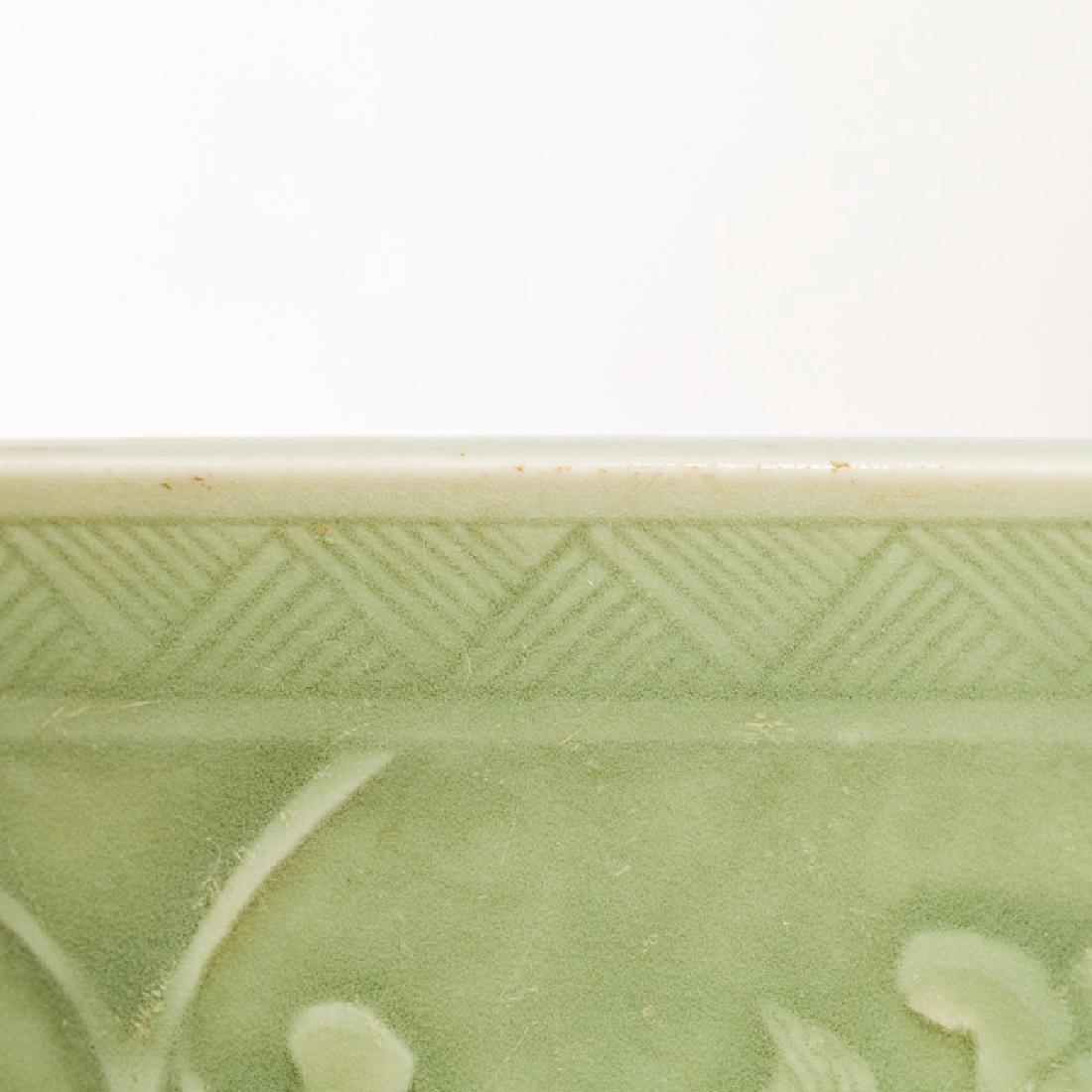 Chinese Antique Celadon Brush Washer, Qing Dynasty - 7