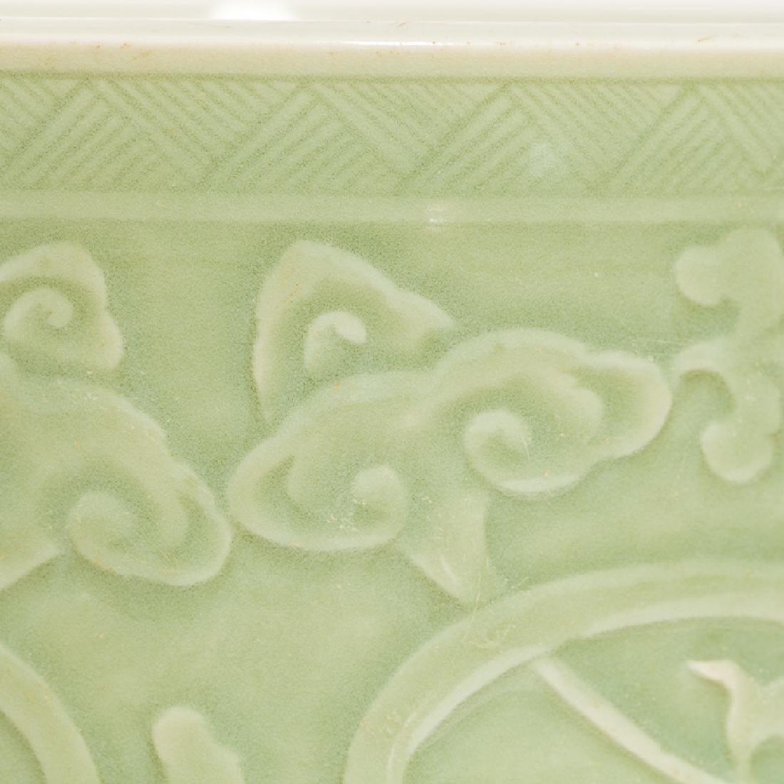 Chinese Antique Celadon Brush Washer, Qing Dynasty - 9