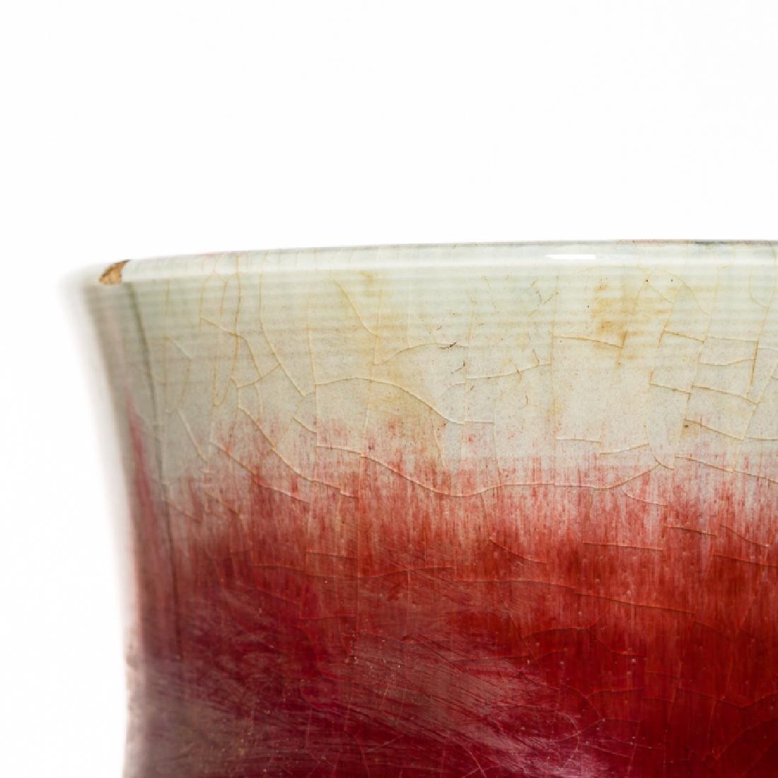 Chinese Antique Flambe-Glazed Porcelain Vase, Qing - 8