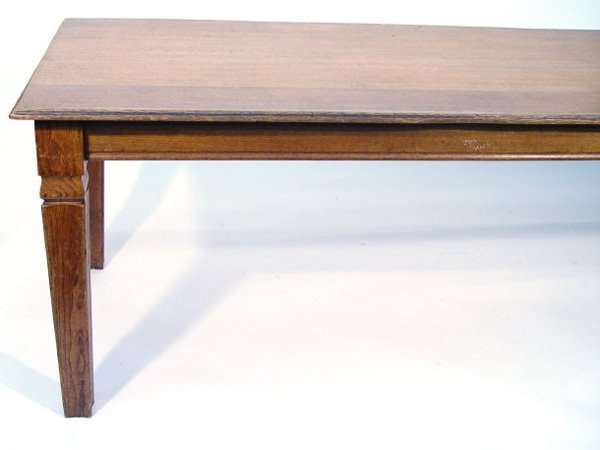 22: Arts and Arafts oak library table, the rectangular