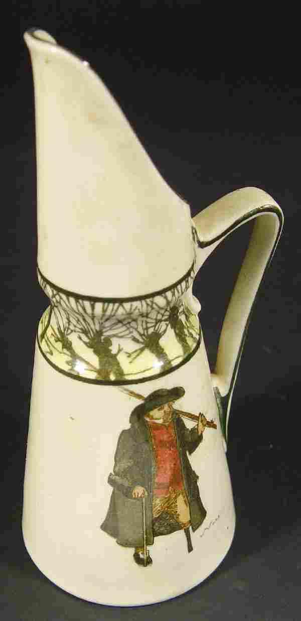 472: Royal Doulton 'Isaac Walton Ware' ewer printed wit