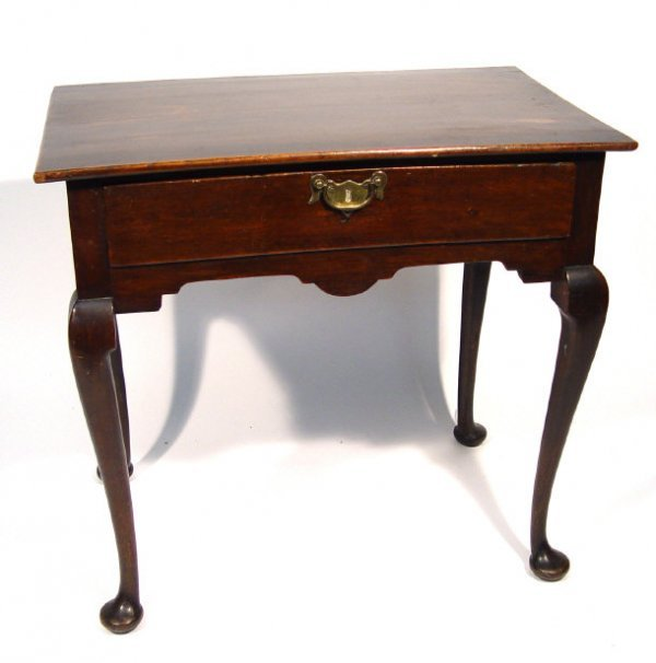 13: Georgian mahogany lowboy, fitted with a frieze draw