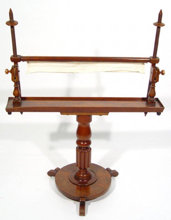 23: 19th Century adjustable mahogany tapestry frame sup