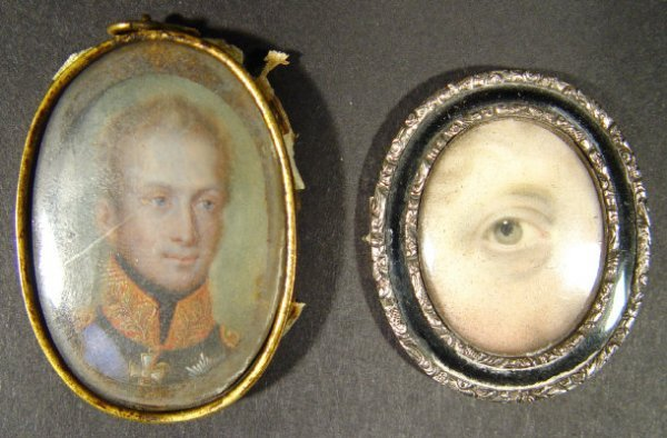 558: Two 19th Century miniatures onto ivory, one a port
