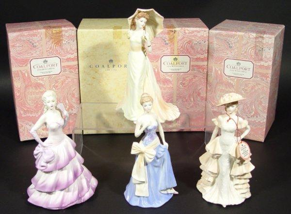1203: Set of four Coalport figurines from the Ladies of