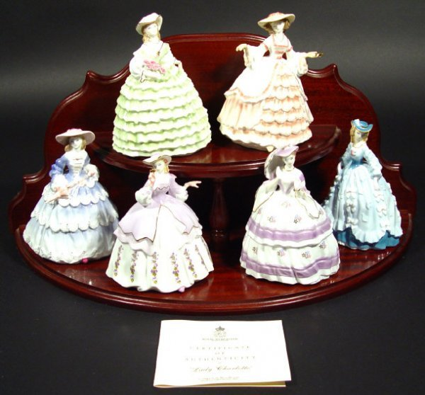 1204: Set of six Royal Worcester figurines from The Fas