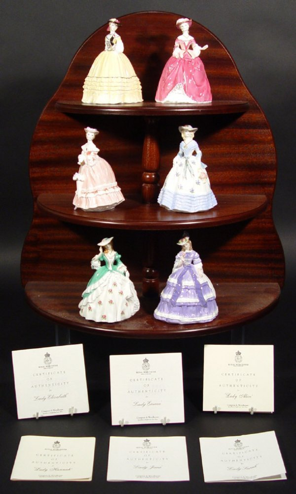 1205: Set of six Royal Worcester figurines from The Fas