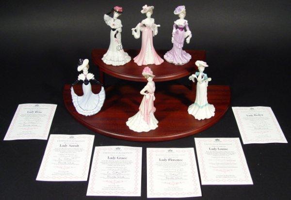 1206: Set of six Coalport figurines from the My Fair La